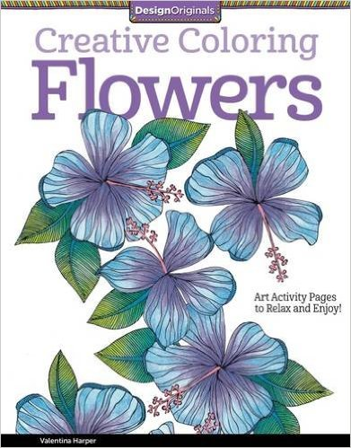 Creative Colouring Flowers Book ISBN 9781574219708