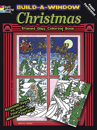 Build A Window Stained Glass Coloring Book - Christmas, ISBN ...