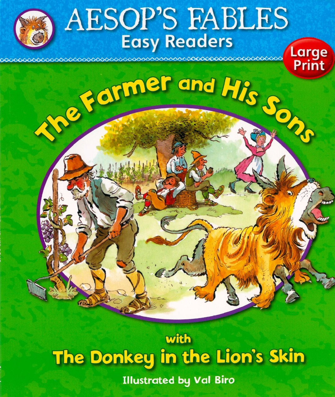 The Farmer and His Sons : Aesops Fables Easy Readers, ISBN