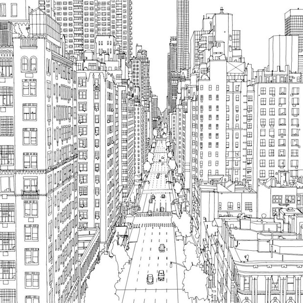 City Scapes Colouring Book ISBN 9780486800776