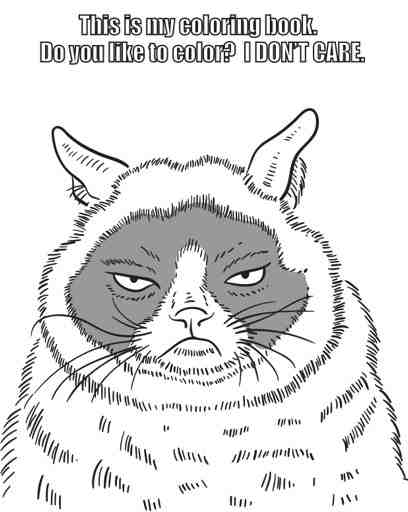 Grumpy Cat Coloring Book ISBN 9780486791630