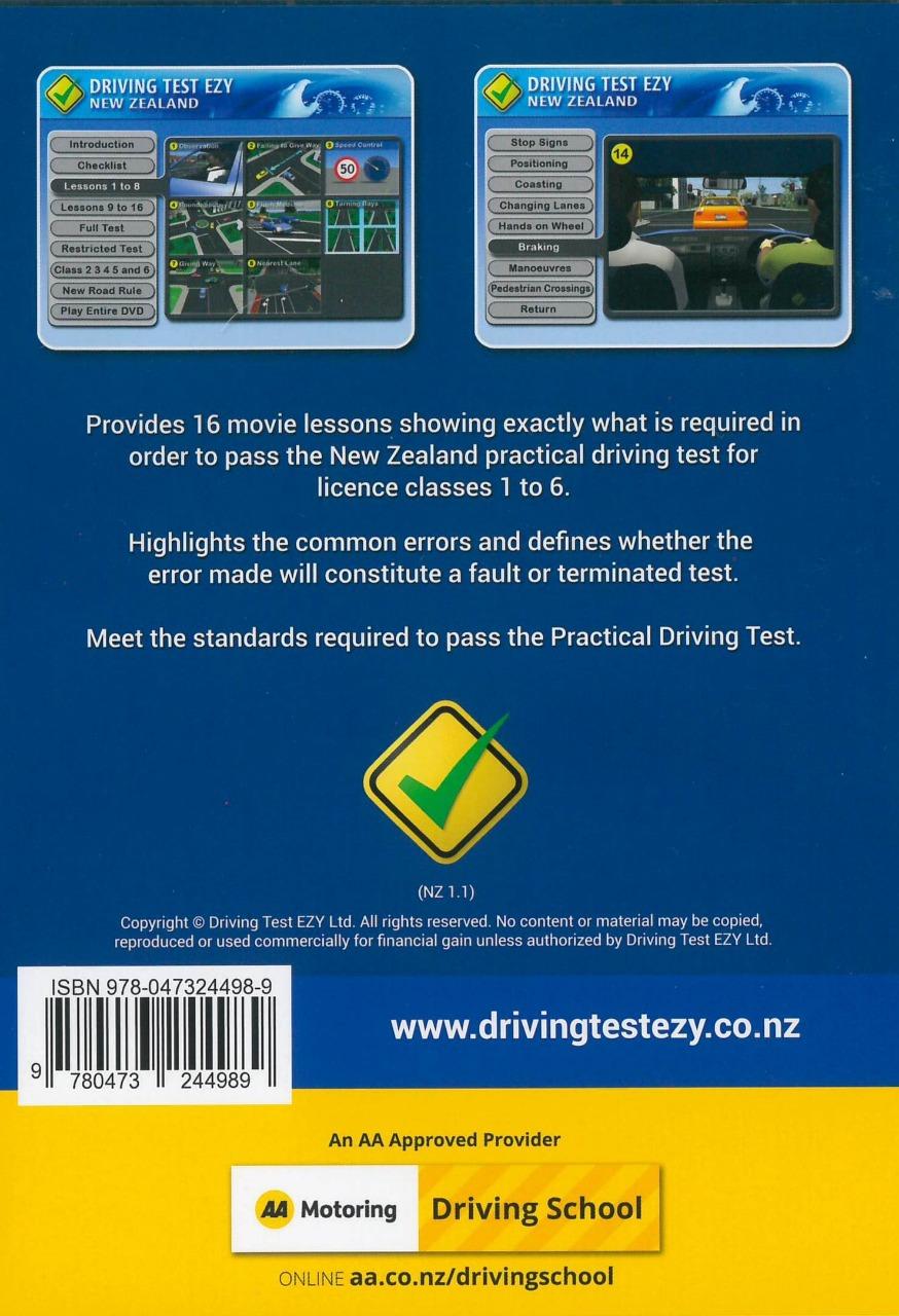 NZ Driving Test Ezy Practical DVD, ISBN: 9780473244989