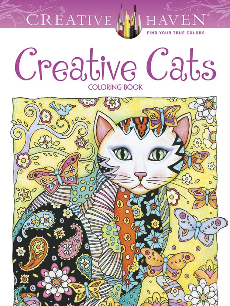 Creative Cats Coloring Book ISBN 9780486789644